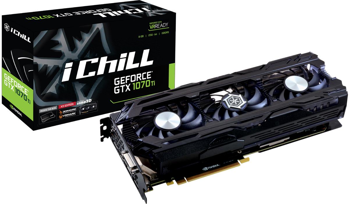 Видеокарта Inno3D GeForce GTX 1070 Ti iChill X3 8Gb (C107T3-1SDN-P5DN) цена в Москве и Питере