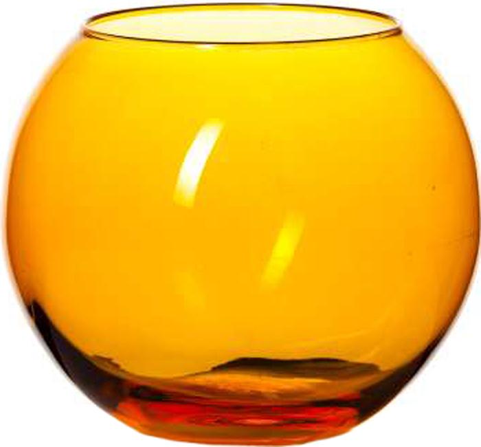 Ваза Pasabahce Энжой Оранж, цвет: оранжевый, 10,2 см креманка pasabahce энжой оранж цвет оранжевый 250 мл