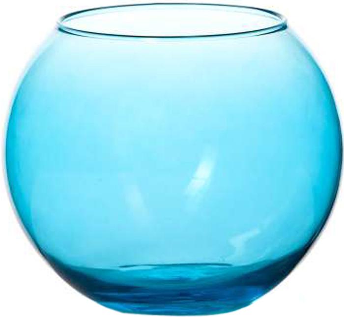 Ваза Pasabahce Энжой Блю, цвет: синий, 10,2 см ваза pasabahce энжой скай цвет прозрачный синий 26 см