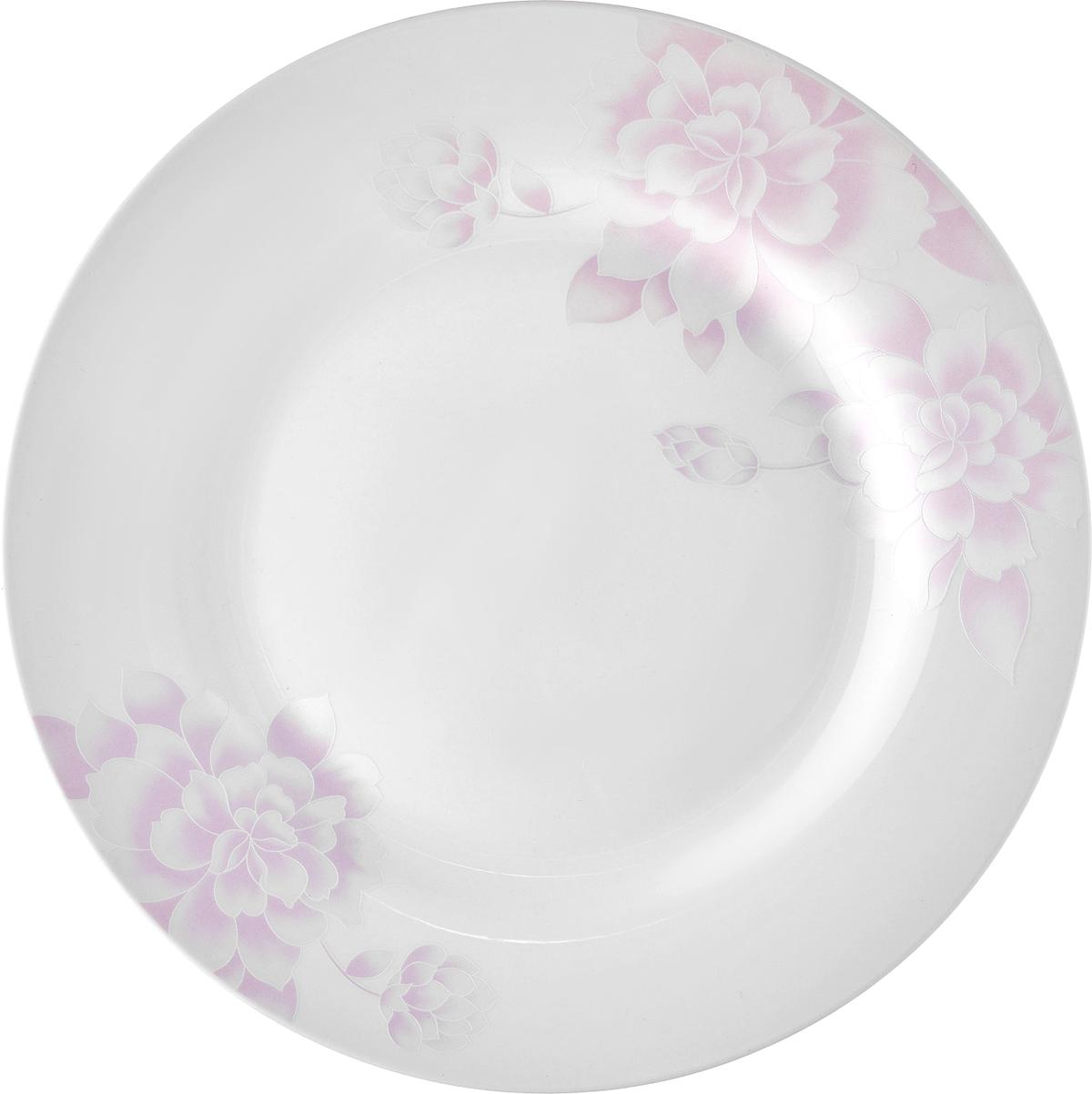 """Набор десертных тарелок Esprado """"Peonies"""", цвет: белый, светло-розовый, диаметр 20 см, 6 шт. PEO020PE301"""