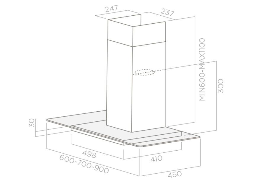 Вытяжка Elica Flat Plus Ix/A/60, настенная, серебристый Elica
