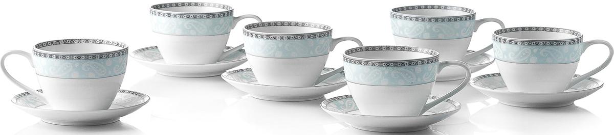 Набор чайный Esprado Arista Blue, 12 предметов чайный набор esprado arista rose