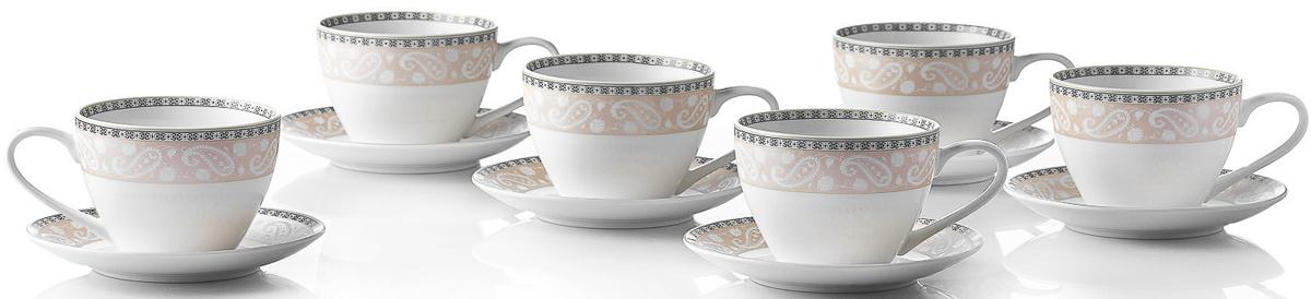Набор чайный Esprado Arista Rose, 12 предметов чайный набор esprado arista rose