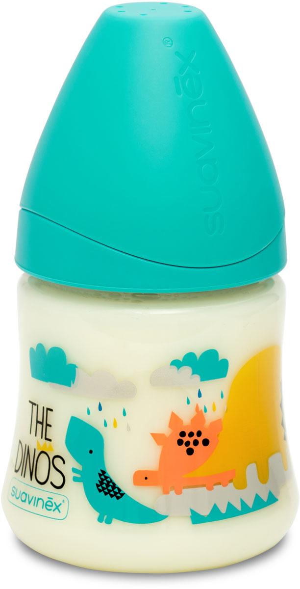 Suavinex Бутылочка от 0 месяцев с силиконовой соской цвет голубой 150 мл 3800057