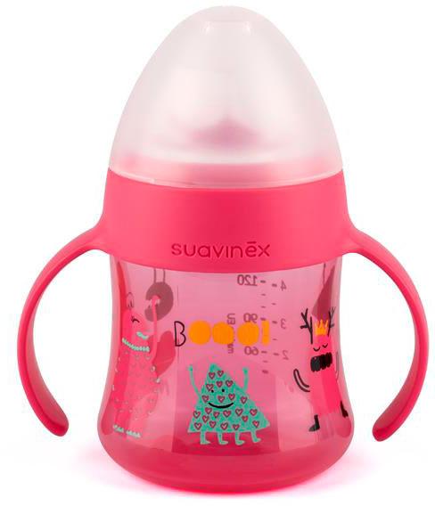 Suavinex Поильник BOOO от 4 месяцев с ручками цвет розовый suavinex поильник booo от 4 месяцев с ручками цвет розовый