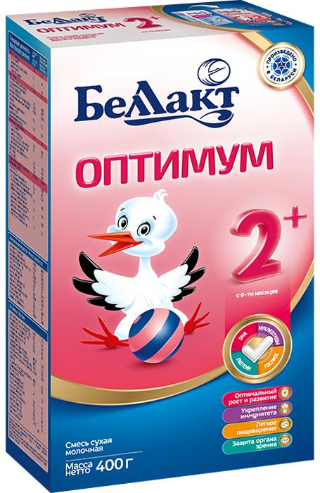 Беллакт Оптимум 2+ смесь молочная сухая с 6 месяцев, 400 г беллакт плюс смесь молочная сухая с 12 месяцев 400 г