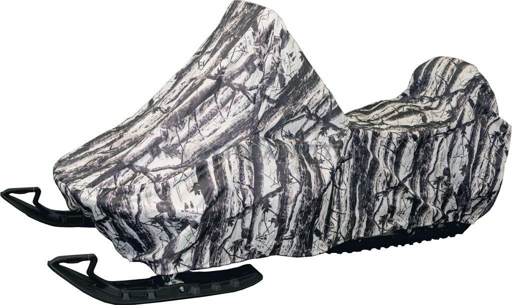 Чехол AG-brand, для хранения снегохода Ski-Doo SKANDIC SWT 600, цвет: белый, серый