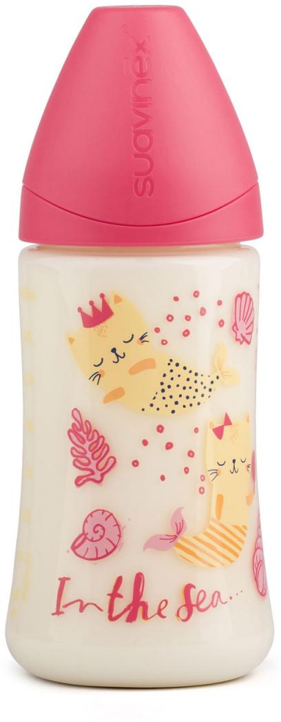 Suavinex Бутылочка от 0 месяцев с силиконовой соской цвет розовый 270 мл бутылка suavinex 150мл scottish с силиконовой анатом соской бл розовый принт бел собачка