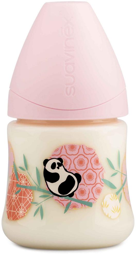 Suavinex Бутылочка от 0 месяцев с силиконовой соской цвет розовый 150 мл 3800141 панда бутылка suavinex 150мл scottish с силиконовой анатом соской бл розовый принт бел собачка