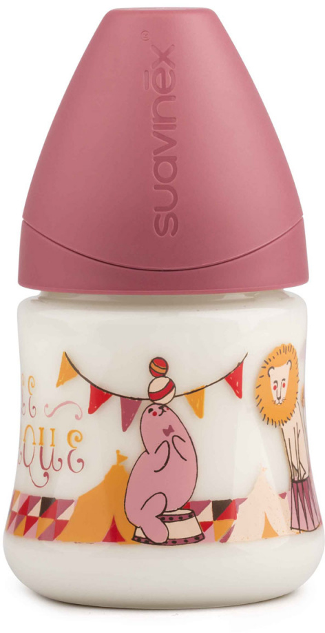 Suavinex Бутылочка от 0 месяцев с силиконовой соской цвет розовый 150 мл 3800141 цирк suavinex бутылочка с латексной соской цвет розовый 270 мл 3156853 роз кролик