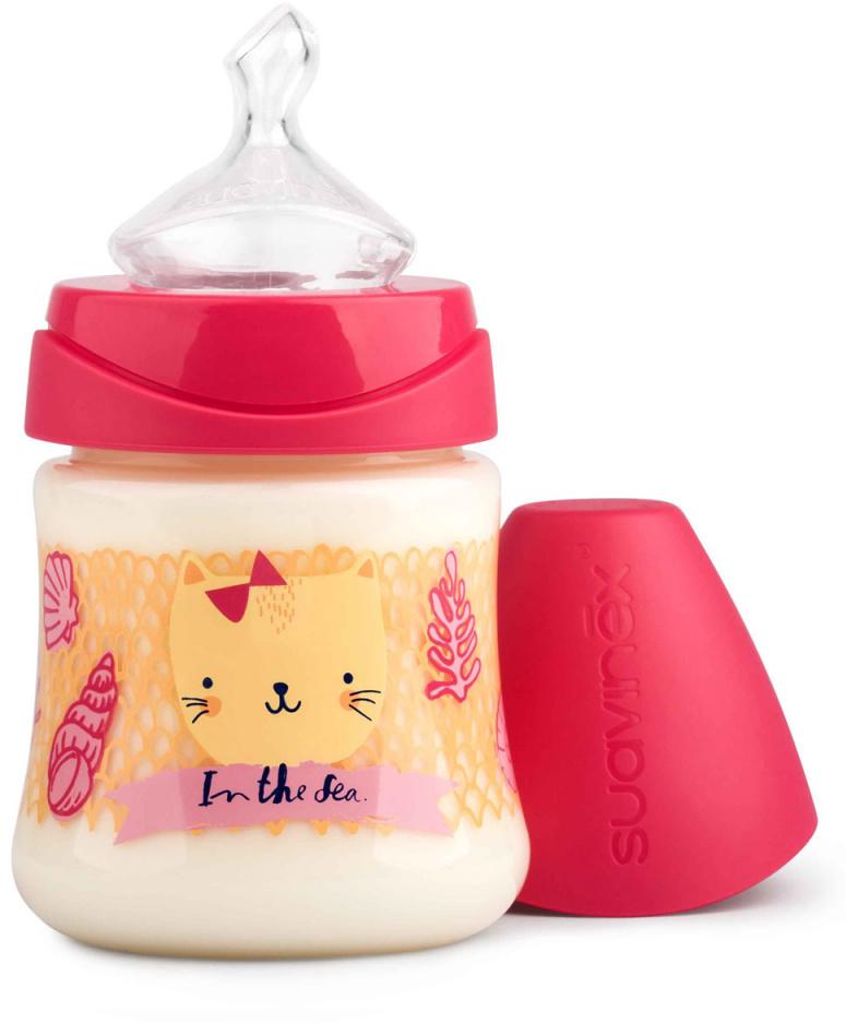 Suavinex Бутылочка от 0 месяцев с силиконовой соской цвет розовый 150 мл бутылка suavinex 150мл scottish с силиконовой анатом соской бл розовый принт бел собачка
