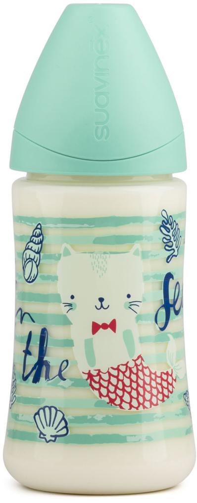 Suavinex Бутылочка от 0 месяцев с силиконовой соской цвет зеленый 270 мл бутылка suavinex 150мл scottish с силиконовой анатом соской бл розовый принт бел собачка