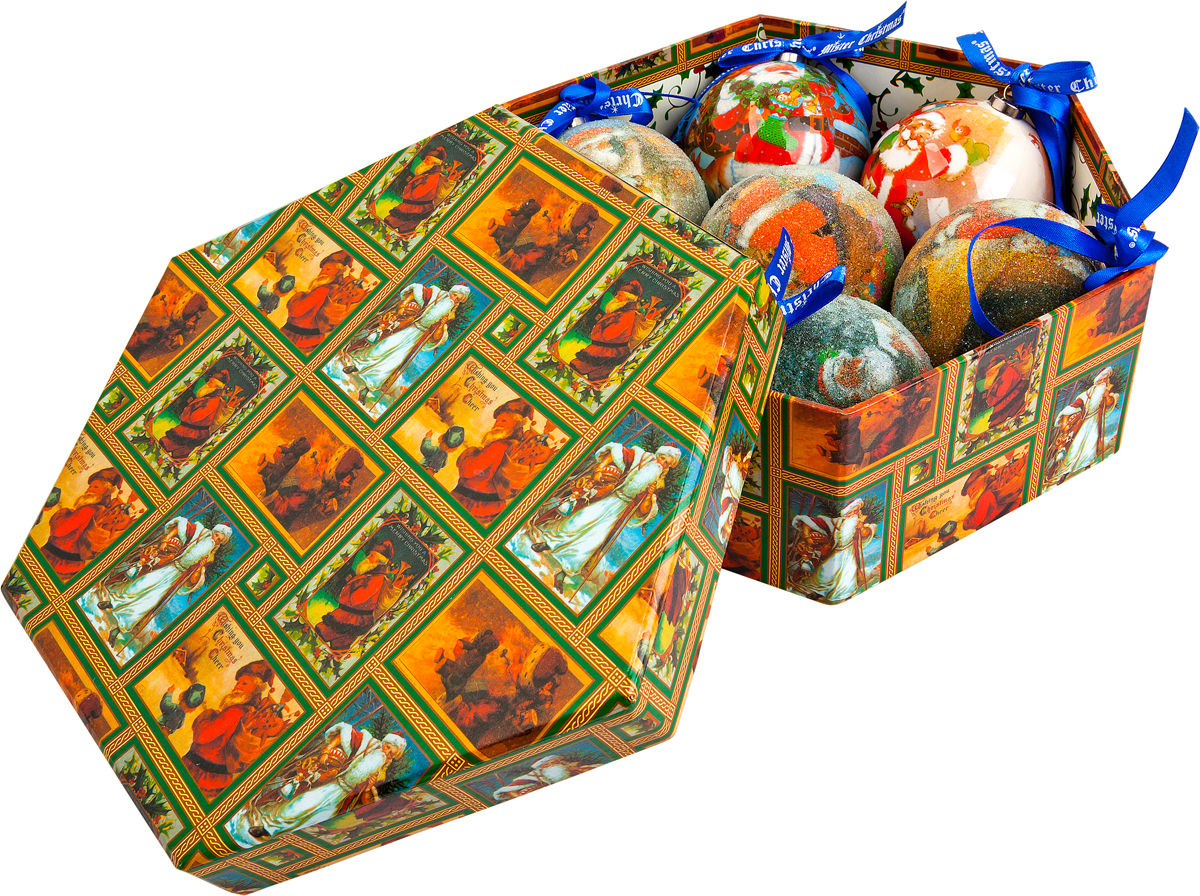 Набор новогодних подвесных украшений Mister Christmas Папье-маше, диаметр 7,5 см, 7 шт. PM-17-7 украшение новогоднее подвесное mister christmas папье маше диаметр 7 5 см pm 15 1t