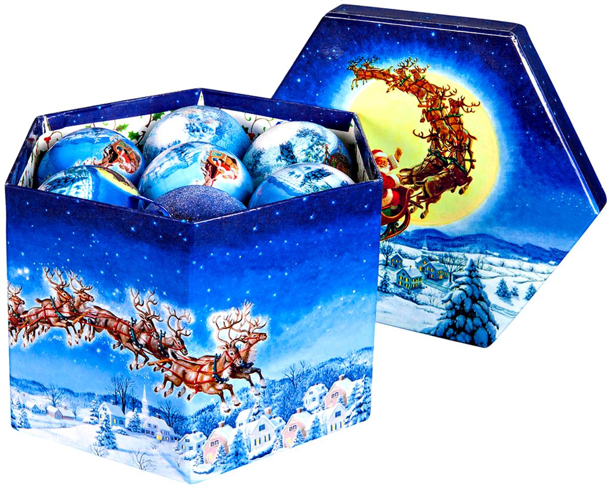 Набор новогодних подвесных украшений Mister Christmas Папье-маше, диаметр 7,5 см, 14 шт. PM-70-14 украшение новогоднее подвесное mister christmas папье маше диаметр 7 5 см pm 15 1t