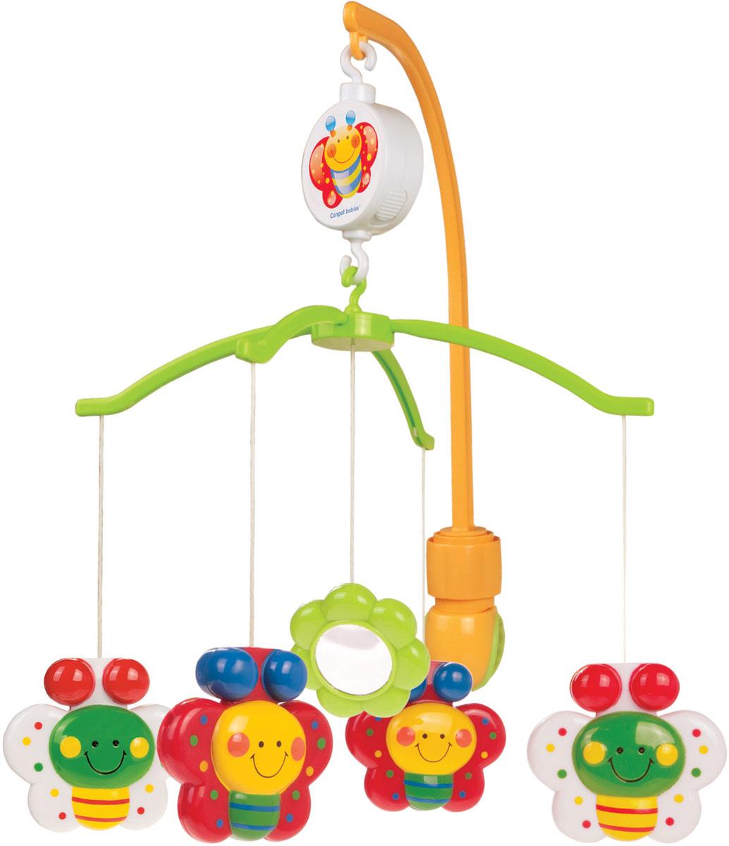 Canpol Babies Мобиль музыкальный Бабочки Happy Garden цена