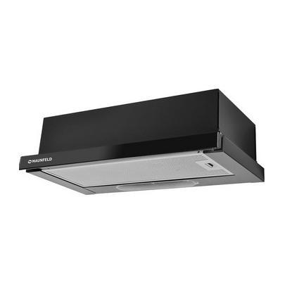 Встраиваемая вытяжка MAUNFELD VS LIGHT GLASS 50 (C) чёрный/черное стекло м/час): 420 Тип управления: механический Фильтр: жироулавливающий...