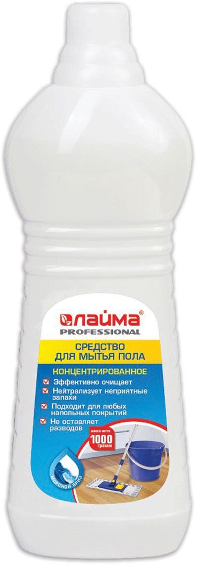 """Средство для мытья пола Лайма """"Professional"""", концентрат, морской бриз, 1 л. 602297"""