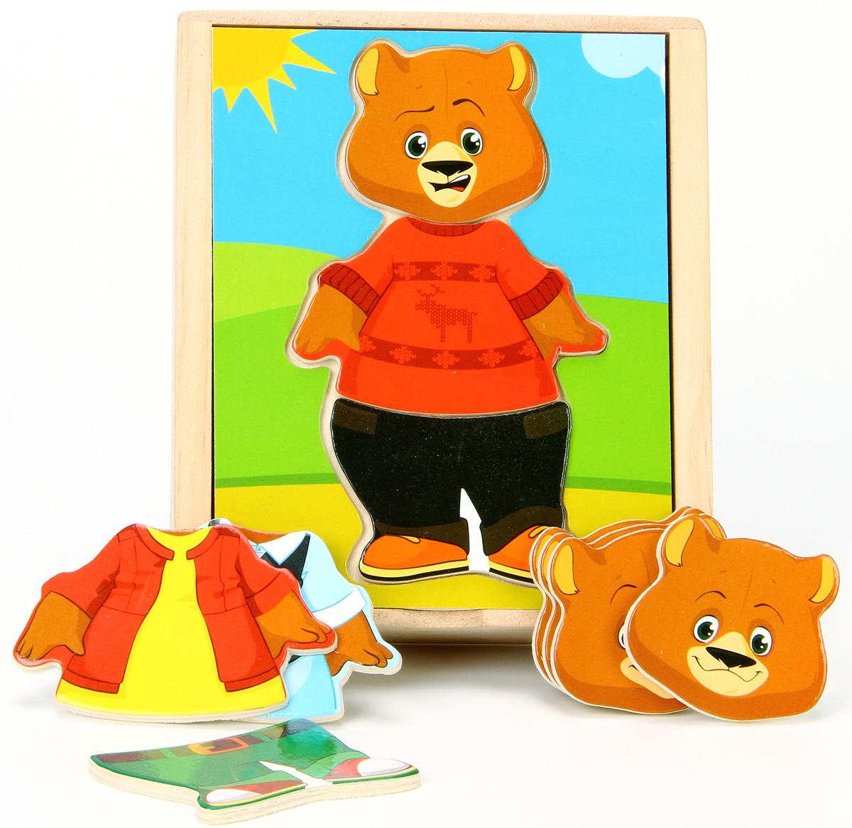Игрушки из дерева Обучающая игра Медвежонок Миша цена