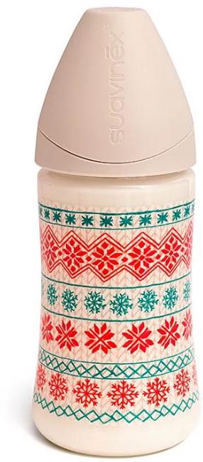 Suavinex Бутылочка Winter Collection от 0 месяцев с силиконовой соской цвет белый 270 мл suavinex бутылочка от 0 месяцев с силиконовой соской цвет бирюзовый 270 мл