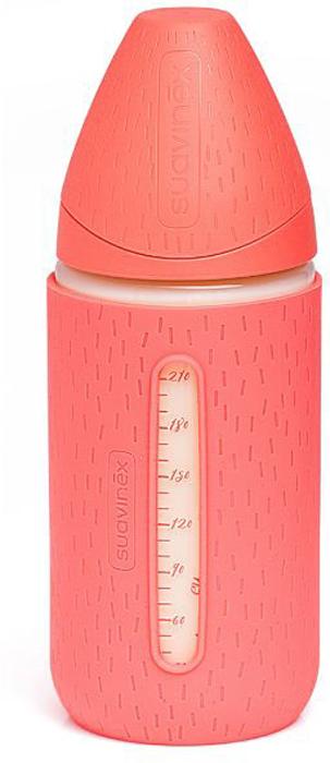 Бутылка Suavinex 0+ 240мл+силиконовый чехол Meaningful Life (стекло) силиконовый чехол gopro acsst 004 цвет розовый