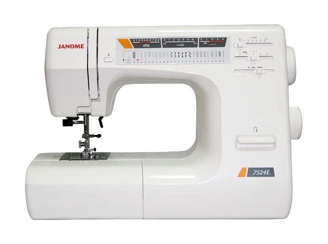 Janome 7524 E, White швейная машина (без чехла)
