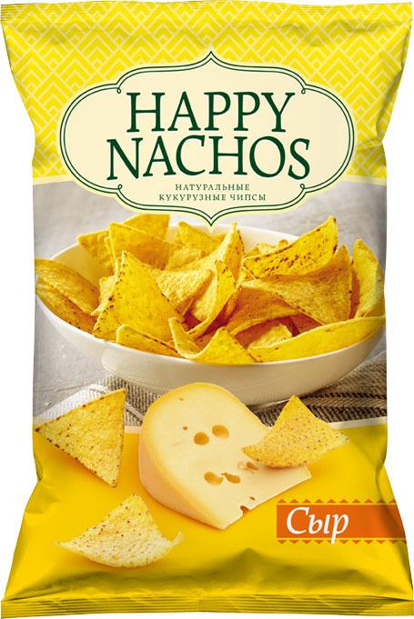Happy Nachos Чипсы кукурузные со вкусом сыра, 75 г чипсы кукурузные delicados nachos оригинальные 75 г