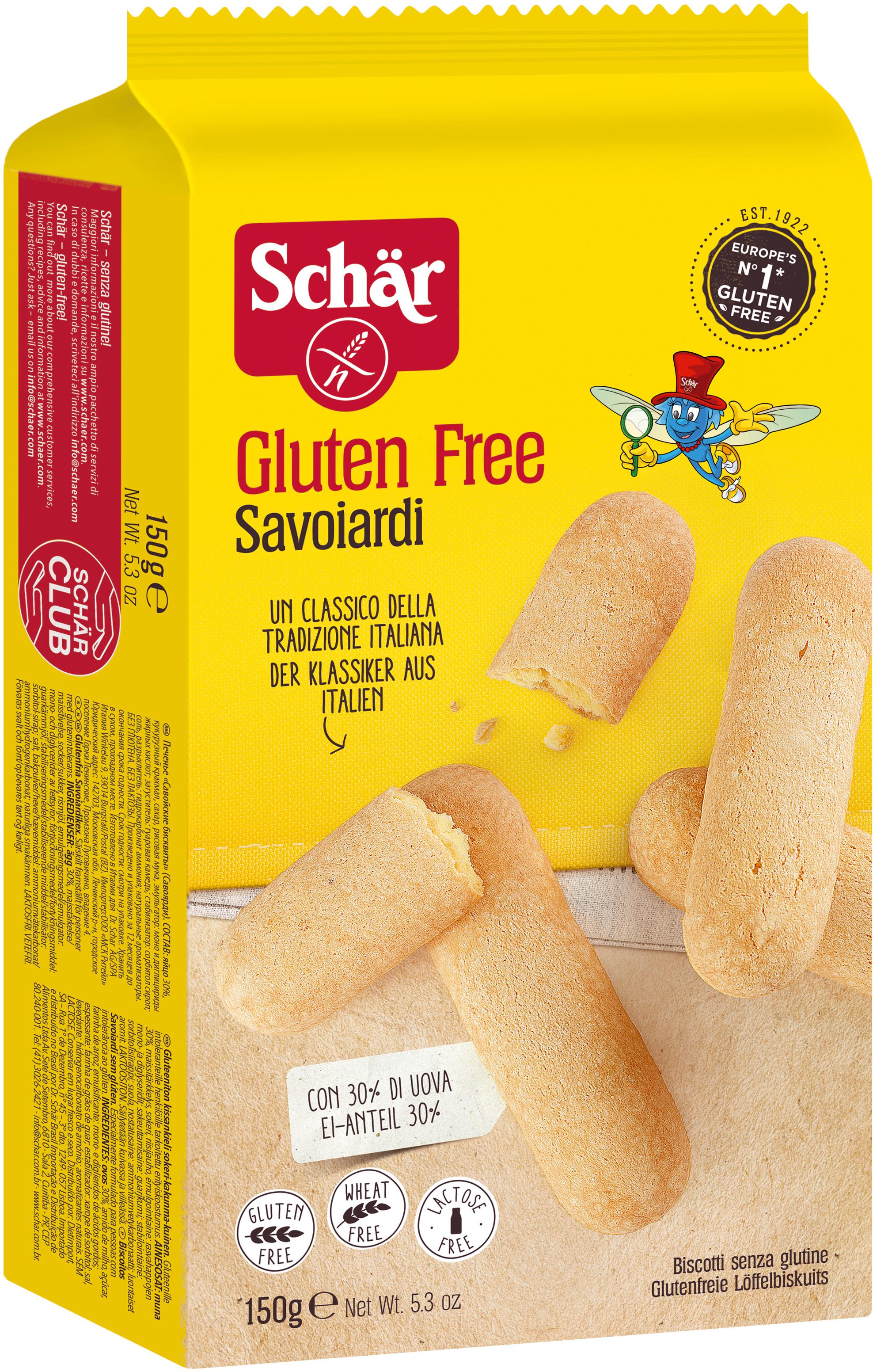 Dr. Schar Savoiardi Печенье бисквитное, 150 г dr schar fette croccanti хлебцы 150 г