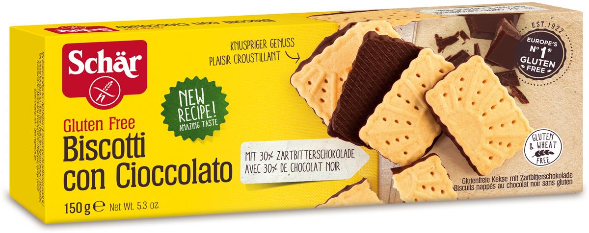 Dr. Schar Biscotti Con Cioccolato Печенье с шоколадом, 150 г dr schar fette croccanti хлебцы 150 г