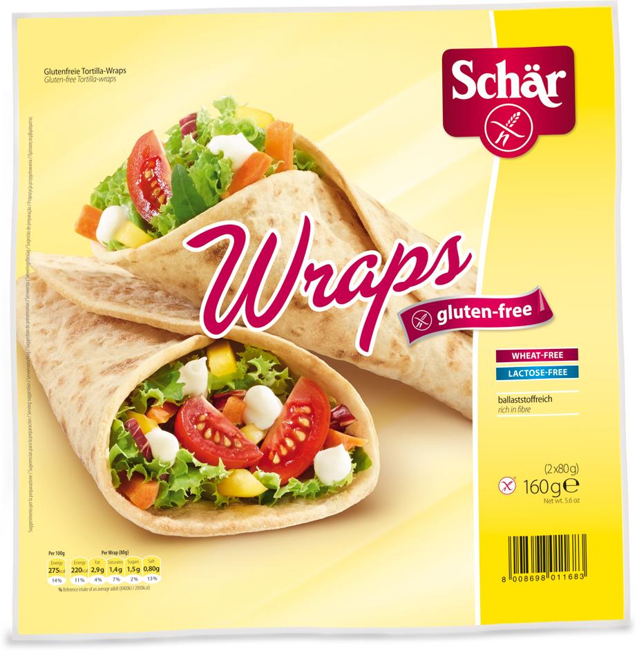 Dr. Schar Wraps Хлебные лепешки, 160 г