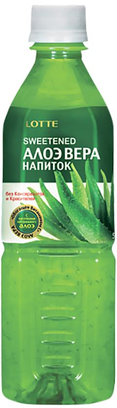Lotte Aloe Vera напиток безалкогольный негазированный с мякотью алоэ оригинальный, 500 мл