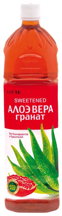 Lotte Aloe Vera напиток безалкогольный негазированный с мякотью алоэ со вкусом Граната, 1,5 л