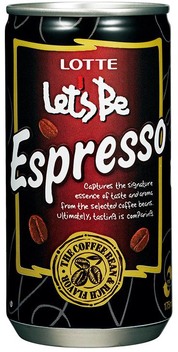 Lotte Lets Be безалкогольный негазированный кофейный напиток Espresso, 240 мл