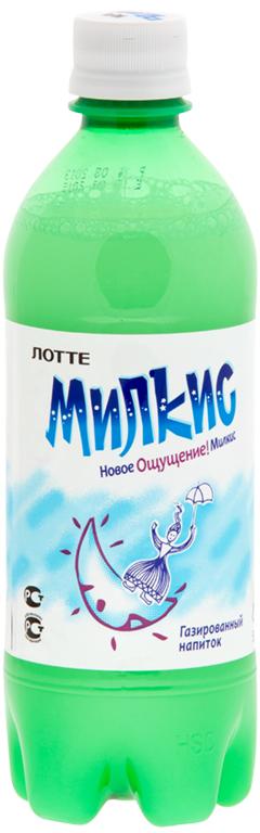 Lotte Milkis напиток газированный безалкогольный Оригинал, 500 мл lotte aloe vera напиток безалкогольный негазированный с мякотью алоэ оригинальный 500 мл