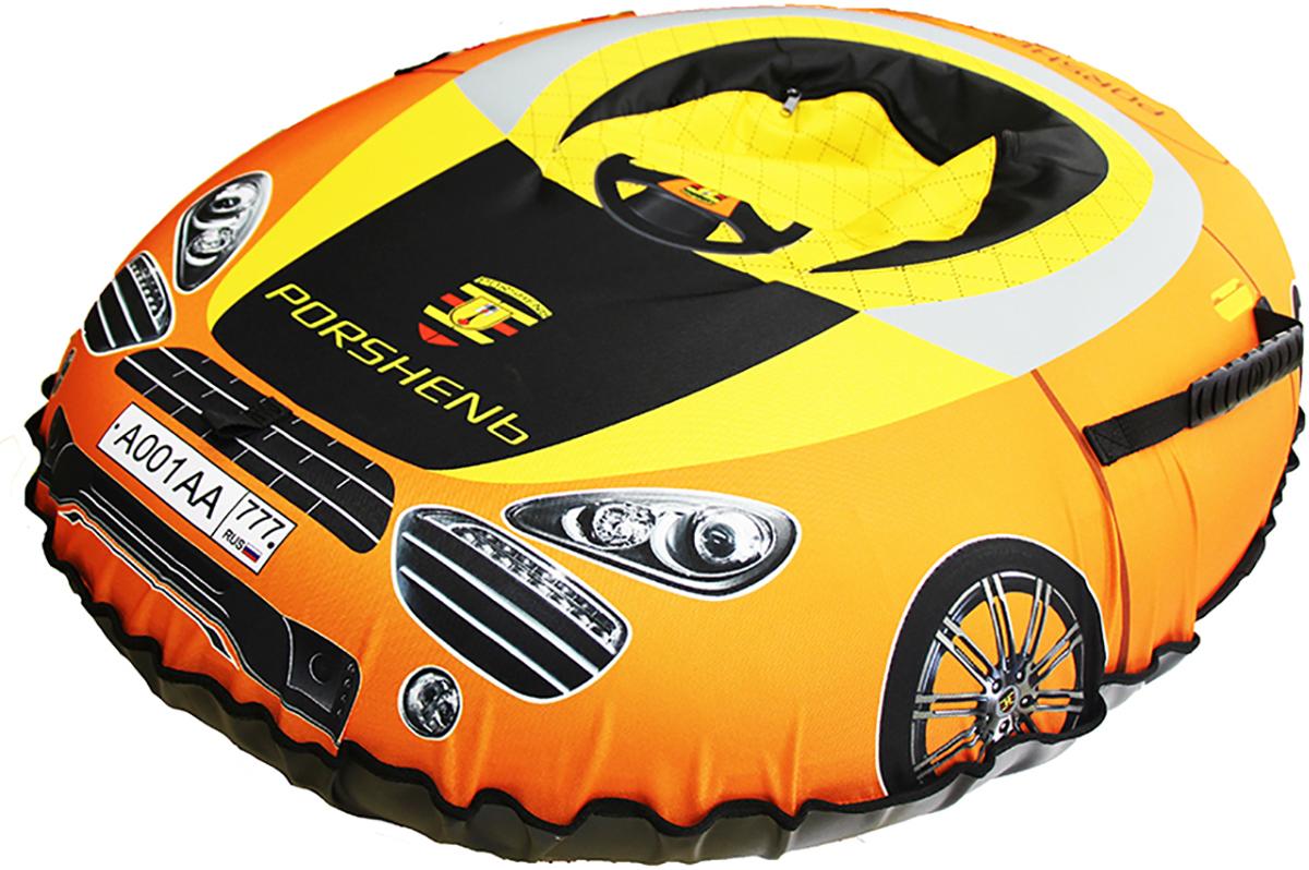 Санки-ватрушка FormulaZima Машинка, 125 х 100 см тюбинг formulazima вихрь цвет черный оранжевый диаметр 100 см