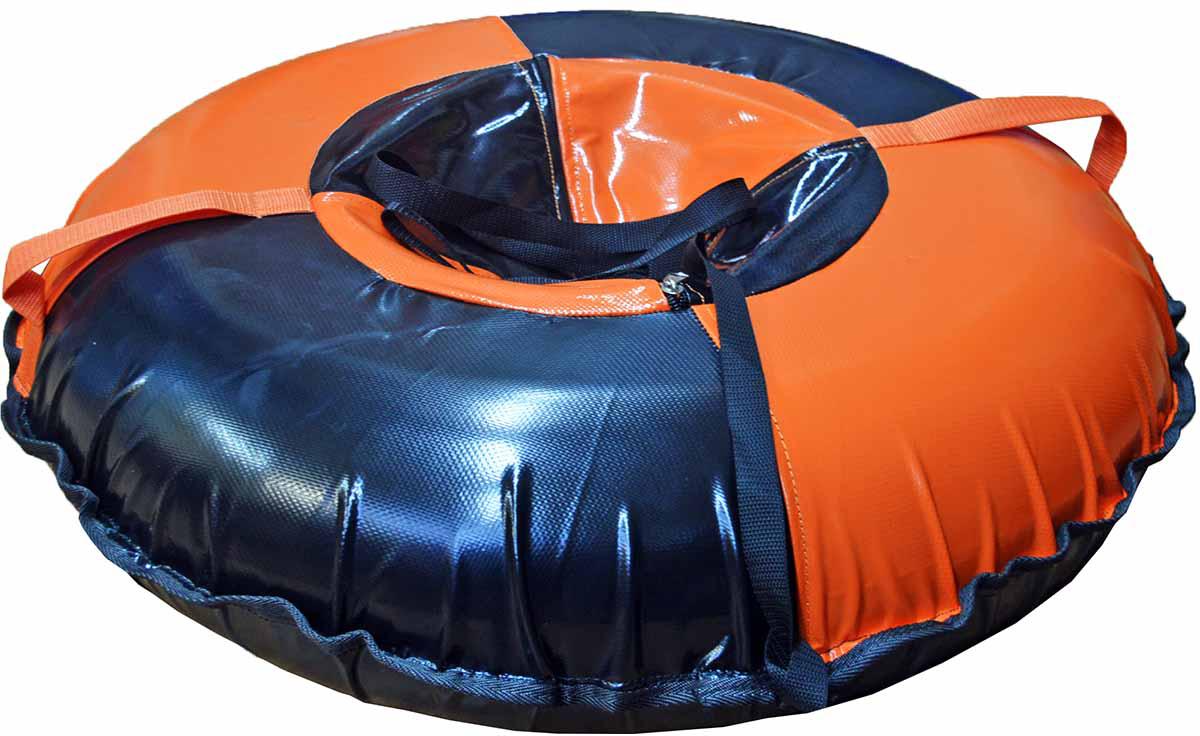 Тюбинг FormulaZima Вихрь, цвет: черный, оранжевый, диаметр 80 см тюбинг formulazima вихрь цвет черный оранжевый диаметр 100 см