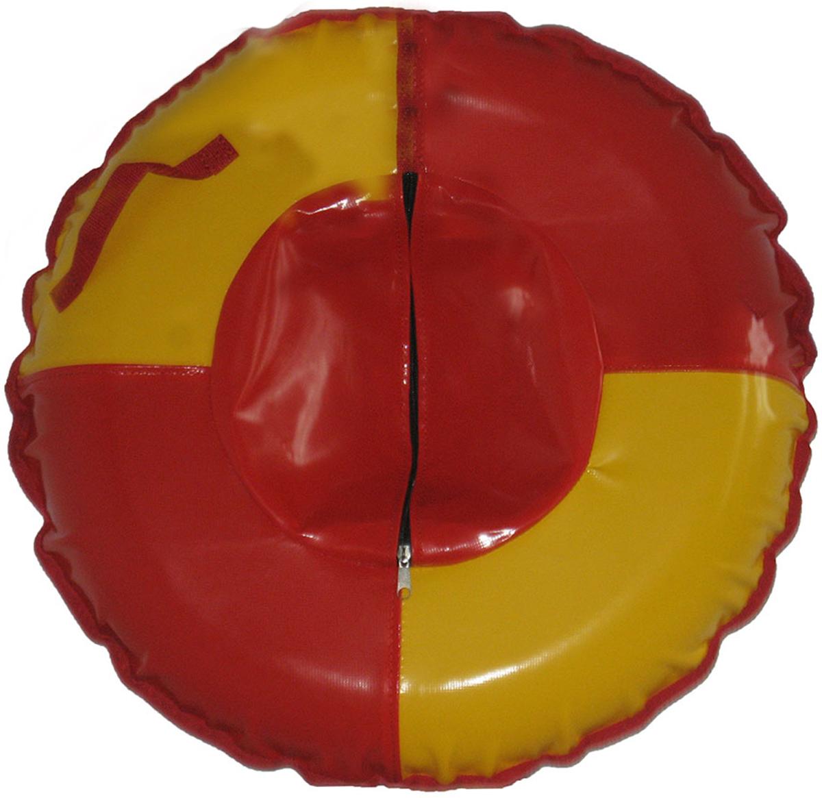 Тюбинг FormulaZima Вихрь, цвет: красный, желтый, диаметр 100 см тюбинг hubster ринг pro во4785 1 красный синий диаметр 90 см