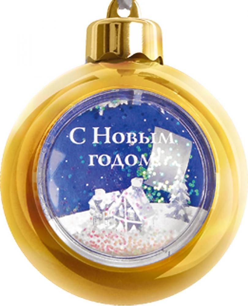Украшение новогоднее подвесное Mister Christmas, с рамкой, цвет: золотой, диаметр 8 см украшение новогоднее подвесное mister christmas папье маше диаметр 7 5 см pm 15 1t
