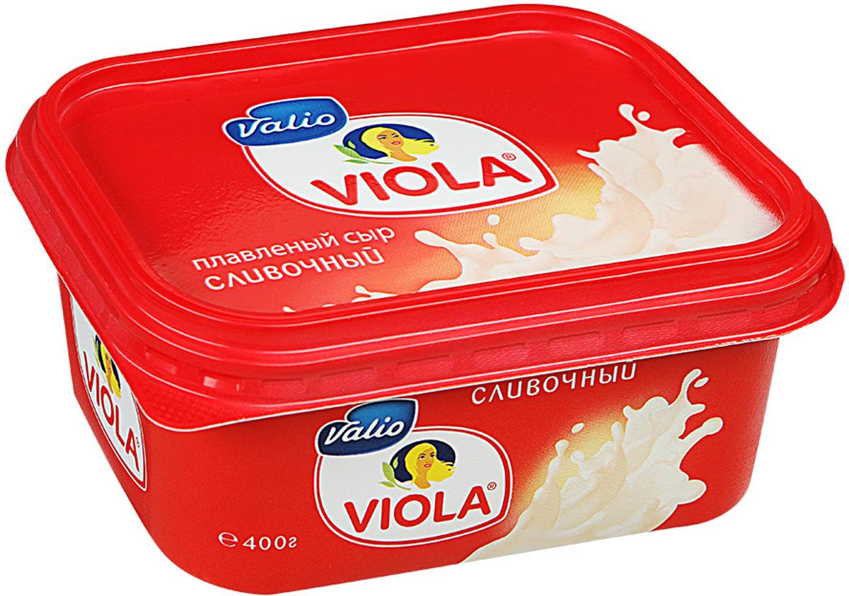 Valio Viola Сыр плавленый Сливочный, 400 г valio viola сыр с лисичками плавленый 400 г