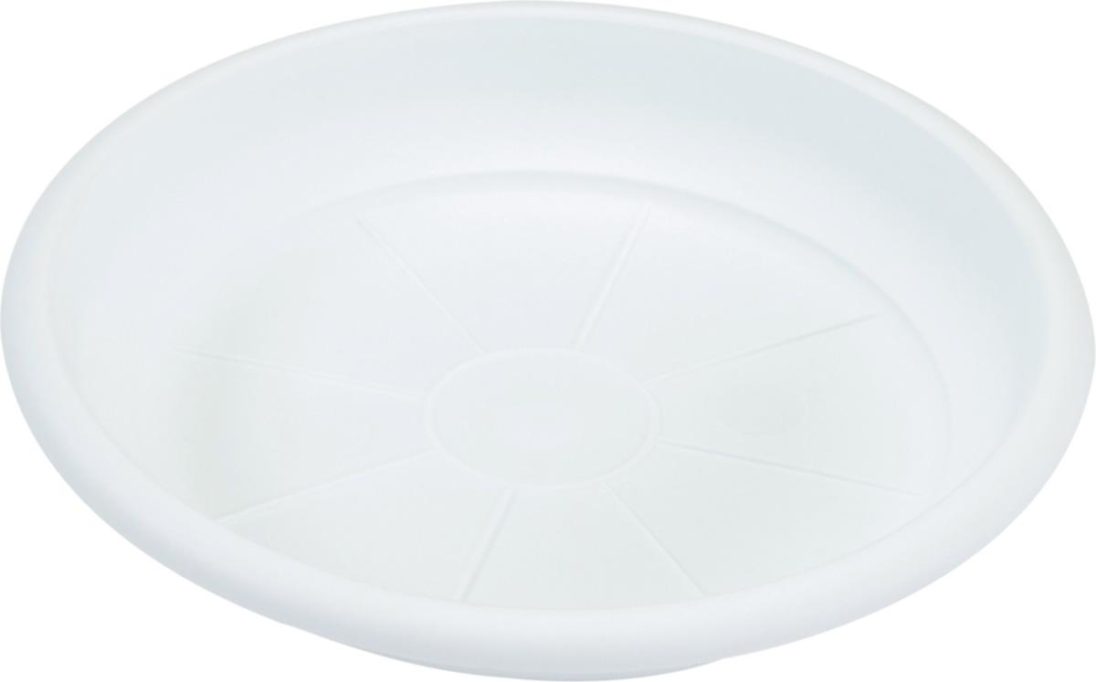 Поддон Santino Терра, цвет: белый, диаметр 12,5 см поддон для балконного ящика santino цвет белый длина 55 см