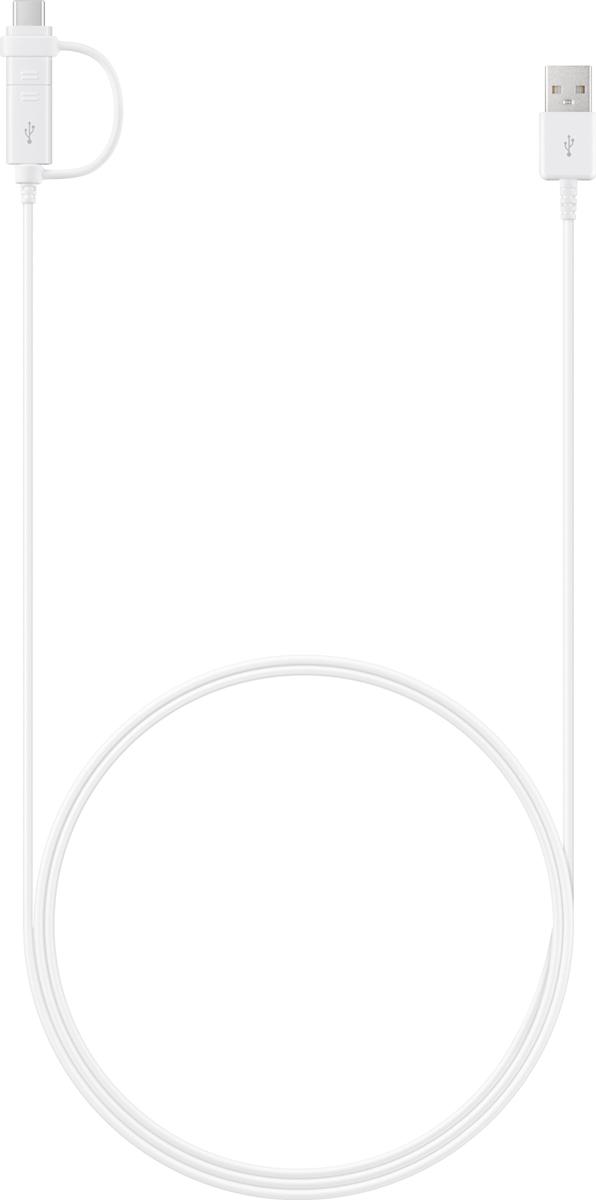 Samsung EP-DG930D, White кабель USB - microUSB / Type-C (1,5 м)