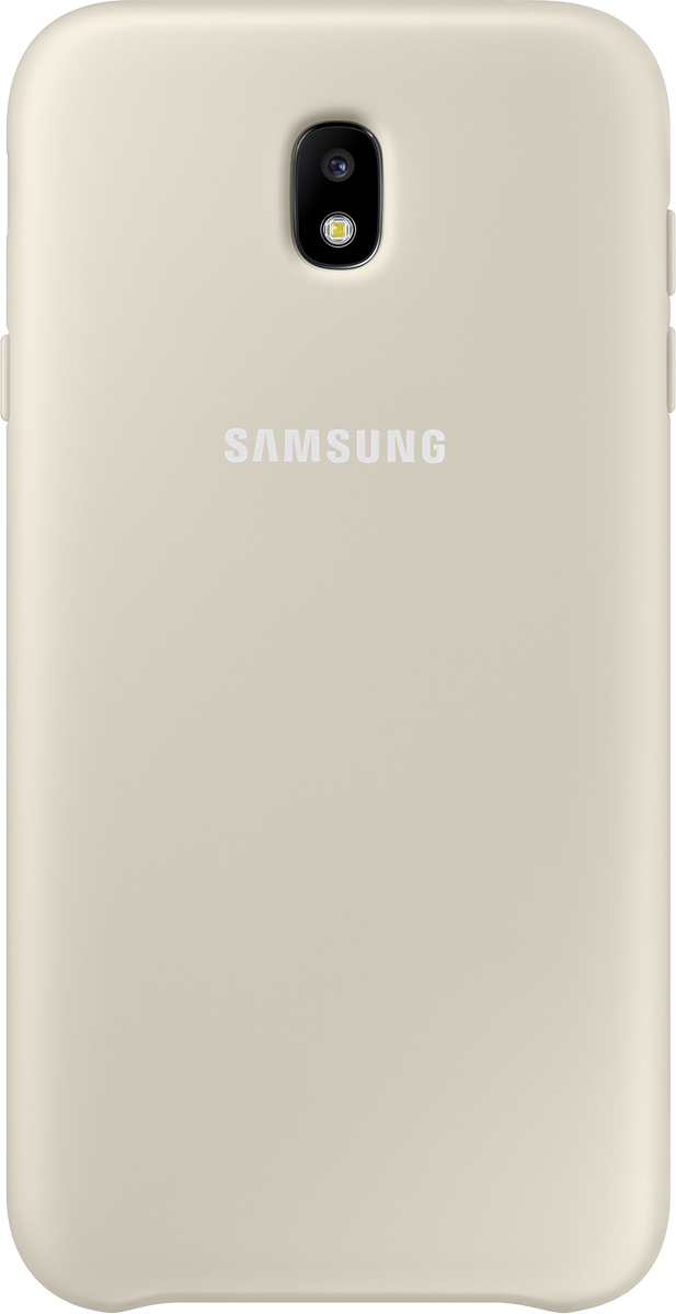 Samsung Dual Layer Cover чехол для Galaxy J7 (2017), Gold цена
