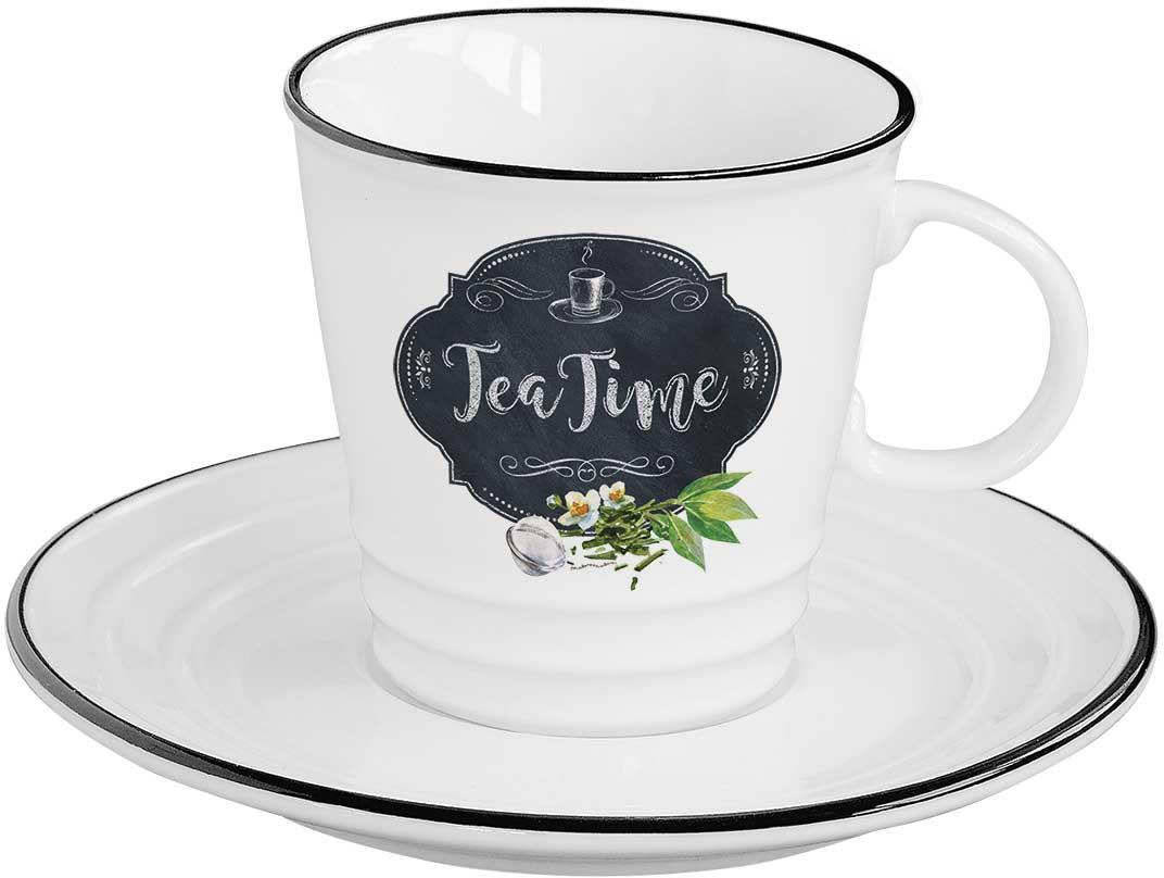 Чайная пара Easy Life Кухня в стиле Ретро. Чай, 2 предмета чайная пара easy life кухня в стиле ретро чай 2 предмета