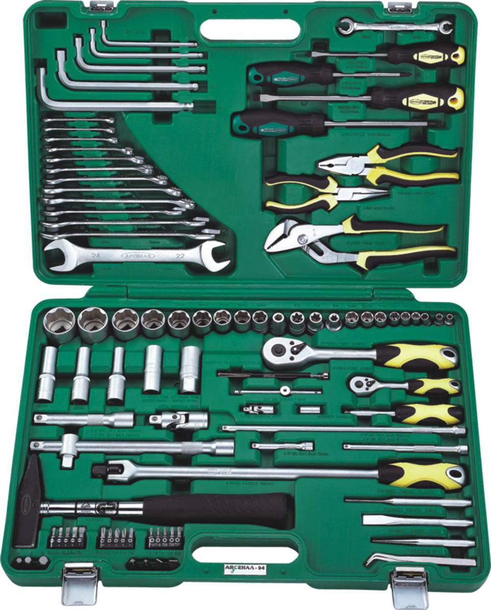Набор инструментов Арсенал AA-C1412P94, для ВАЗ, 94 предмета