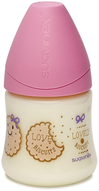 Suavinex Бутылочка от 0 месяцев с силиконовой соской цвет розовый 150 мл 3800141 бутылка suavinex 150мл scottish с силиконовой анатом соской бл розовый принт бел собачка