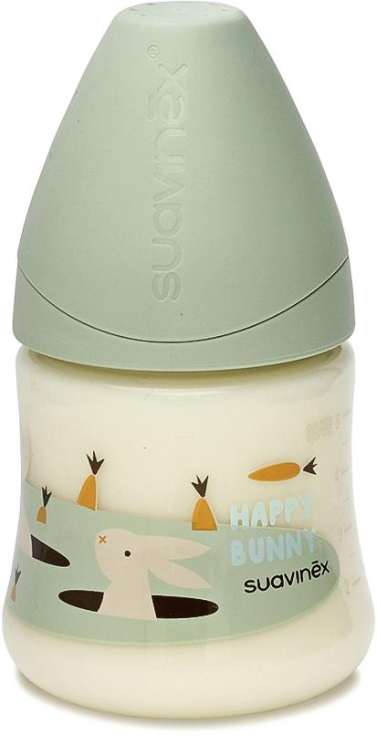 Бутылка Suavinex 150мл от 0 до 6 мес. с анатом.латексной соской, зел.кролик цена