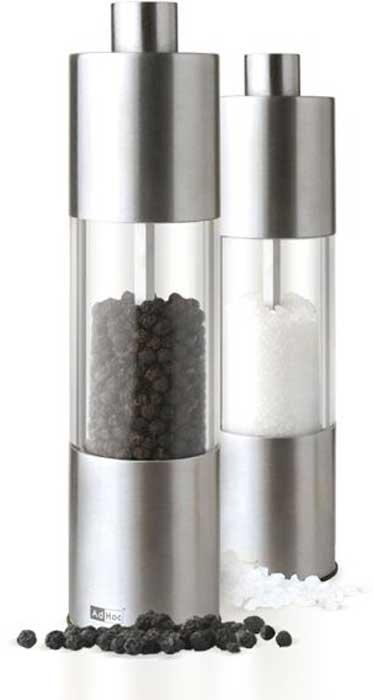 Мельница для соли и перца AdHoc Classic Medium, 18 см. 010.070800.036 мельница для специй adhoc textura antique белый 15 см
