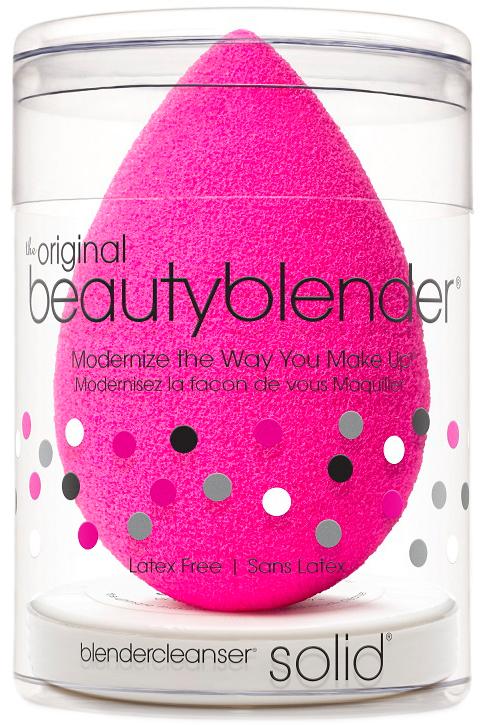 Beautyblender Спонж original и мини мыло для очистки Solid Blendercleanser