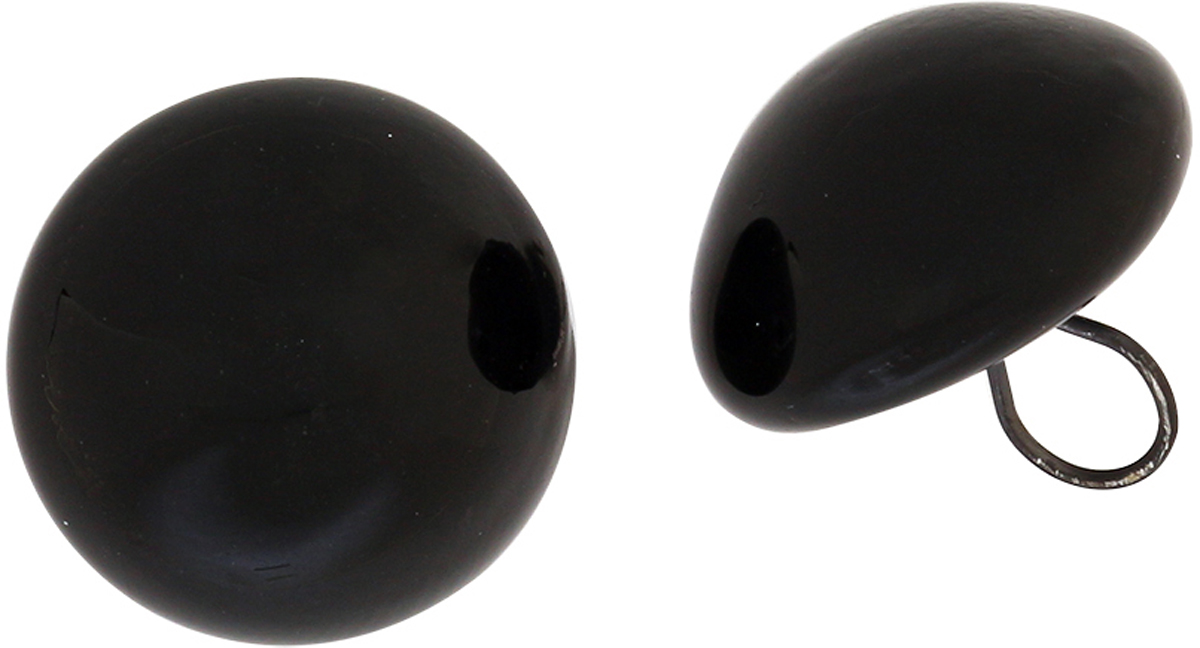 Глазки декоративные Glorex, пришивные, цвет: черный, 3 мм, 2 шт бусины зажимные glorex цвет серебряный 1 8 мм 100 шт 685320