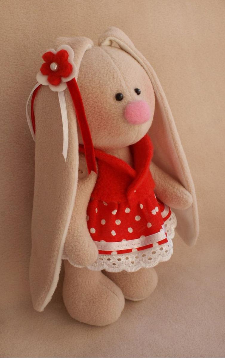 Набор для изготовления текстильной игрушки Ваниль Зайка Ягодка, высота 20 см