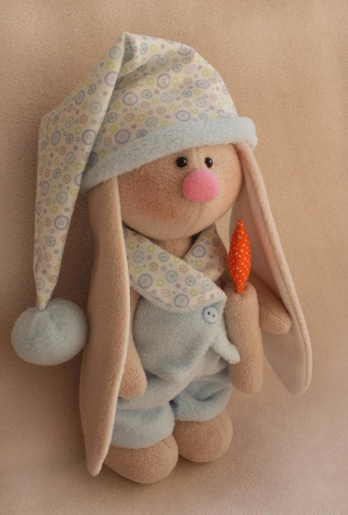 Фото - Набор для изготовления текстильной игрушки Ваниль Зайка Сплюшка, высота 20 см набор для изготовления текстильной игрушки ваниль зайка ягодка высота 20 см